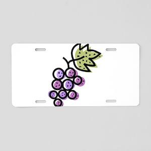 GRAPES [1 lt purple] Aluminum License Plate